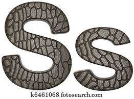 Alligator skin font S lowercase and capital letters