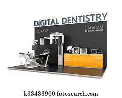 Digital dentistry concept