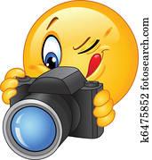 fotoapperat, emoticon