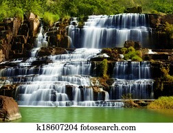 Pongour waterfall in Vietnam