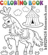Unterschiedliche Tiere In Zirkus Zelt Clipart K8150214 Fotosearch