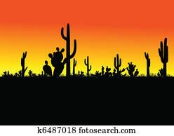 cactus black vector