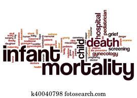 Infant mortality word cloud