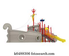 Piracy ship playground