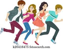 Running Teens