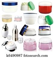 Cosmetics cream packs