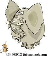 elefant, und, maus