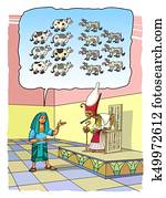 Joseph interprets the Pharaoh's Dreams