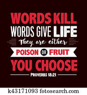 Words Kill Words Give Life Proverb