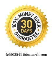 30, tage, geld, back, garantie, etikett