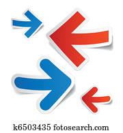 Arrows stickers
