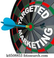 Dart and Dartboard Targeted Marketing Successful Campaign