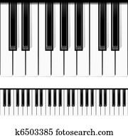 klavier, keys., seamless, vector.