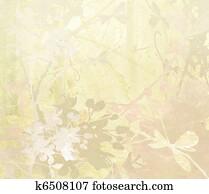 Pastel Flower Art on Paper Background