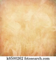 Peach feather abstract on paper