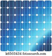 réflexion dans les panneaux solaires