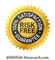 risk-free, garantie, etikett