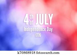 Text 4th of July Independent Day