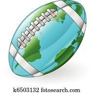 welt globus, footballkugel, begriff