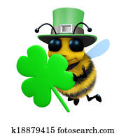 3d St Patricks day bee