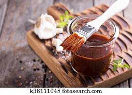 Barbeque sauce in a jar