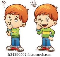 Boy Vector Illustration of Game for chil