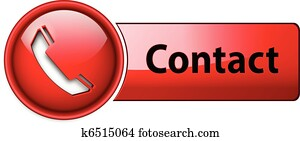 Telephone, contact icon button.