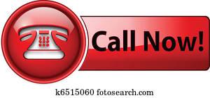 telephone icon, button