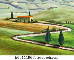 Tuscany farm
