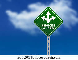 Choices Ahead Road Sign