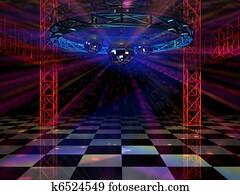 Colorful dance floor