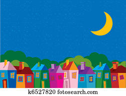 Vector illustration color houses