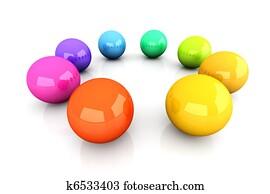 Clip Art Of Color Wheel Brightness K15954902 Search Clipart