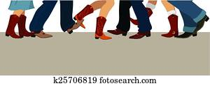 Country dancing banner