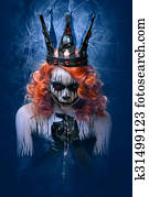 Queen of death, scary halloween female