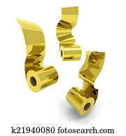 three roll toilet paper gold
