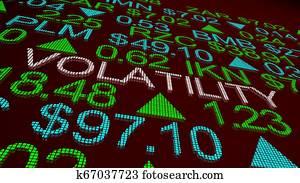 Volatility Wild Movement Prices Up Down Stock Market 3d Illustration