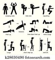 koerper, workout, übung, gesundheit, zug