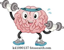Mascot Brain Dumbbell