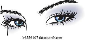 female blue eyes