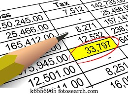 Pointing out tax deduction amount