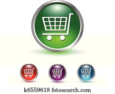 shopping cart icon, button