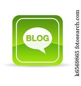 Green Blog Icon
