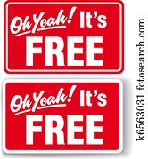 Oh Yeah Its FREE store sign set