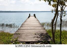 Peten lake, Flores, Guatemala