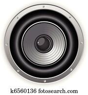 Round Isolated Sound Speaker