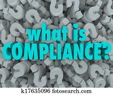 What is Compliance Words Question Mark Background