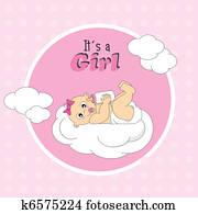 baby girl onn a cloud