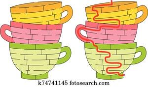 Cups maze
