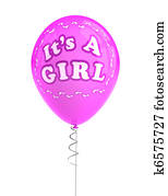 It's a girl party balloon